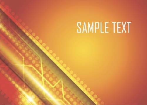 shining orange abstract background vector