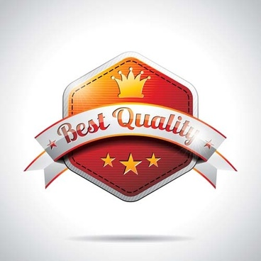 shining premium quality labels creative vector