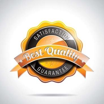 shining premium quality labels creative vector