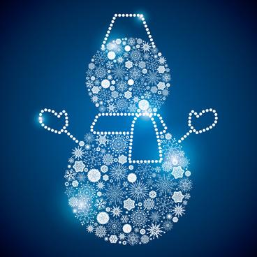 shining snowflakes ornaments design vector graphics