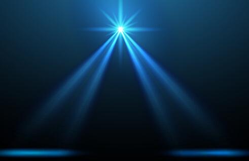 shining spotlight design vector background