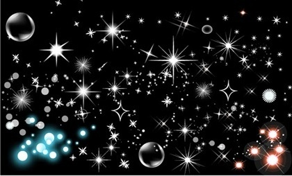 Shining star bubbles vector
