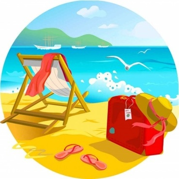 shining summer beach background vector