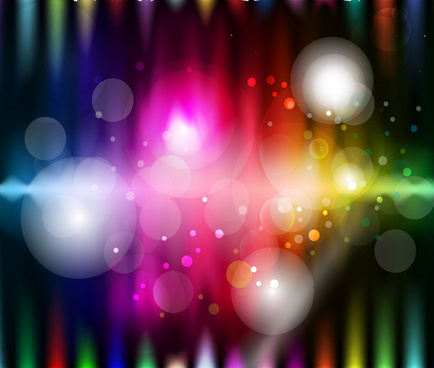 shinning colored art free vector