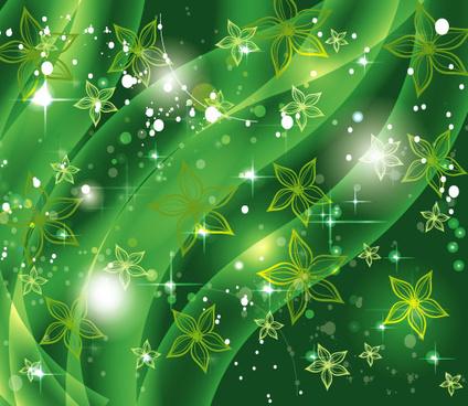 shinning green background