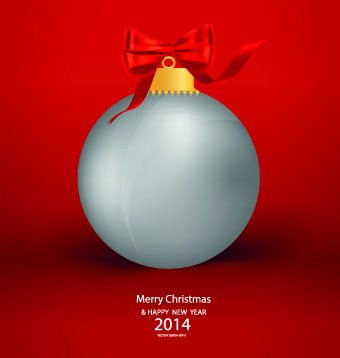shiny14 christmas red background vector