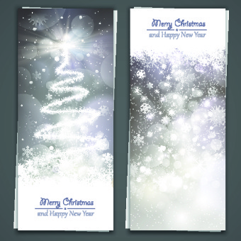 shiny14 merry christmas banners design vector