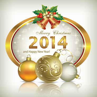 shiny14 new year frame background vector