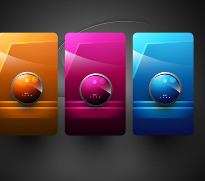 shiny 3d creative icon vector