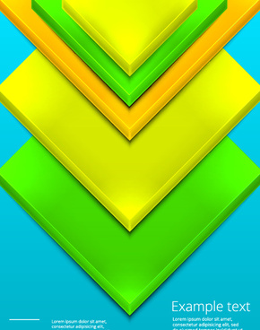 shiny 3d geometry shapes background vector