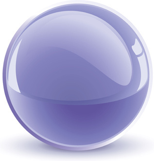 shiny 3d glass sphere vector background
