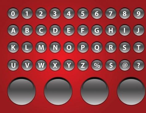 Shiny Alphabet Buttons