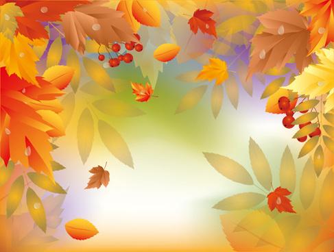 shiny autumn vector background art