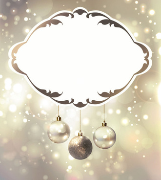 shiny ball with christmas background vector graphics