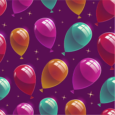 shiny birthday pattern seamless vector