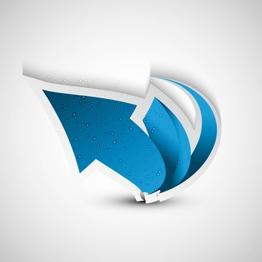 shiny blue colorful arrow background vector