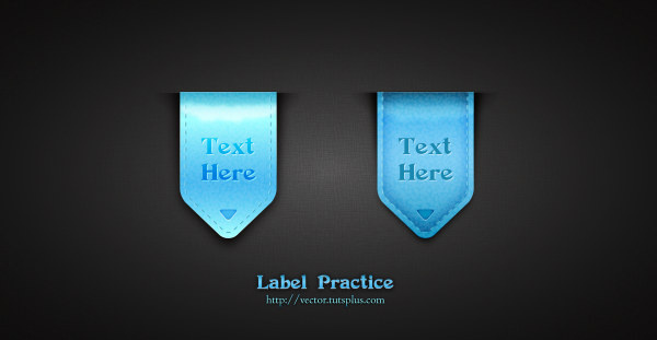 shiny blue labels vector