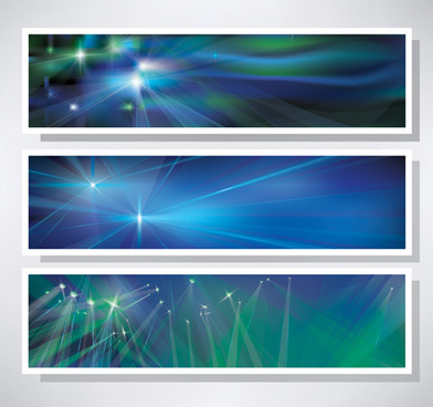 shiny blue style banners vector graphics