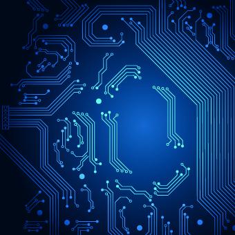 shiny blue technology style backgorund