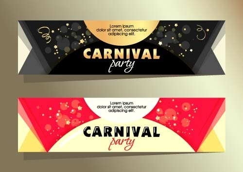 shiny carnival party banners vector