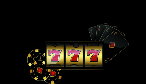 shiny casino elements background vector