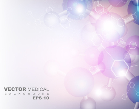 shiny cell medical vector background
