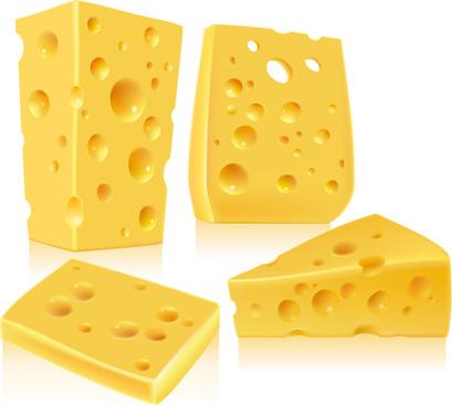 shiny cheese design vector