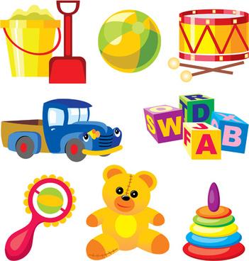shiny children toys vector illustration vector