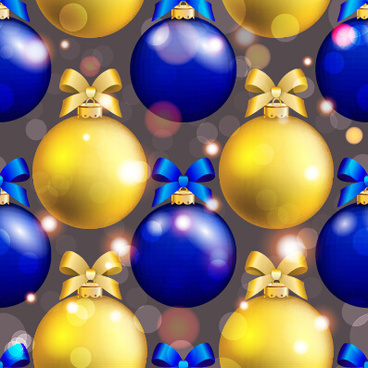 shiny christmas balls ornament seamless pattern vector