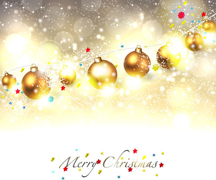 shiny christmas decoration background with balls