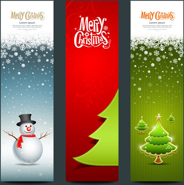 shiny christmas style banner design vector