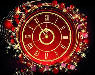 shiny clock background vector