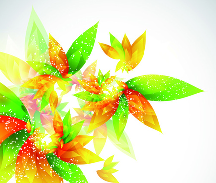 shiny color leaves vector background
