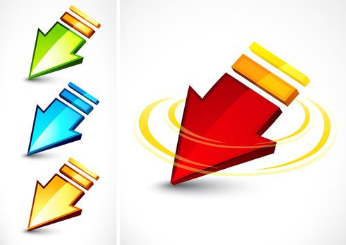 shiny colored arrows vector design