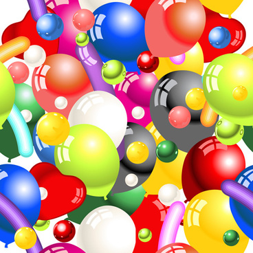 shiny colored balloon seamless pattern vector