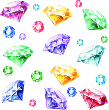 shiny colored diamonds design vector