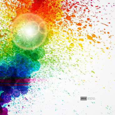 shiny colored grunge background vector