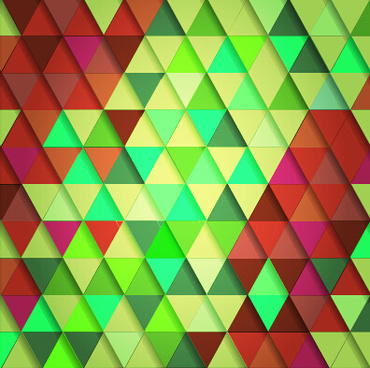 shiny colored triangle pattern vector