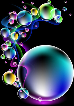 shiny colorful bubble with abstract background