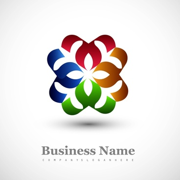 shiny colorful business icon stylized symbol vector design