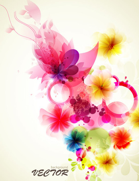 shiny colorful flower background vector