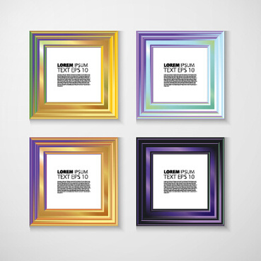 shiny colorful photo frame vector