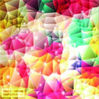 shiny colorful shapes background vector