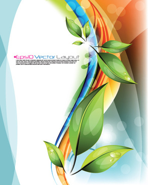 shiny colorful wave backgrounds art vector