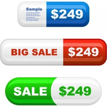 shiny commodity prices button web vector