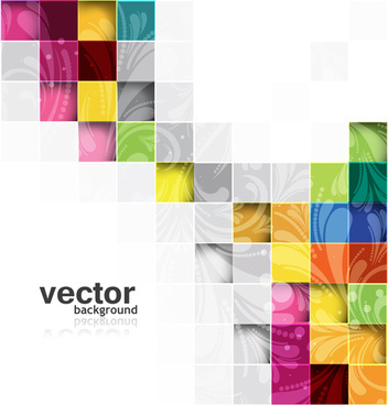 shiny cubes backgrounds vector