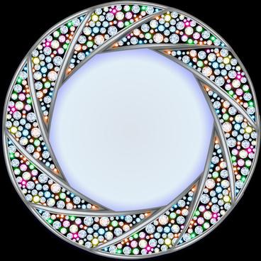 shiny diamonds frame vector background art