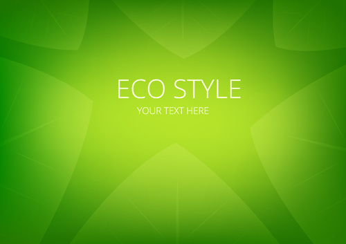 shiny eco style green background vector