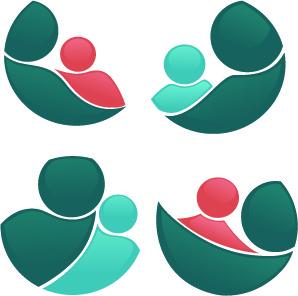 shiny family logos design vector