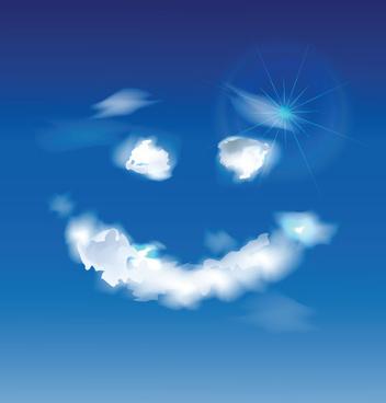 shiny figure cloud vector backgrounds